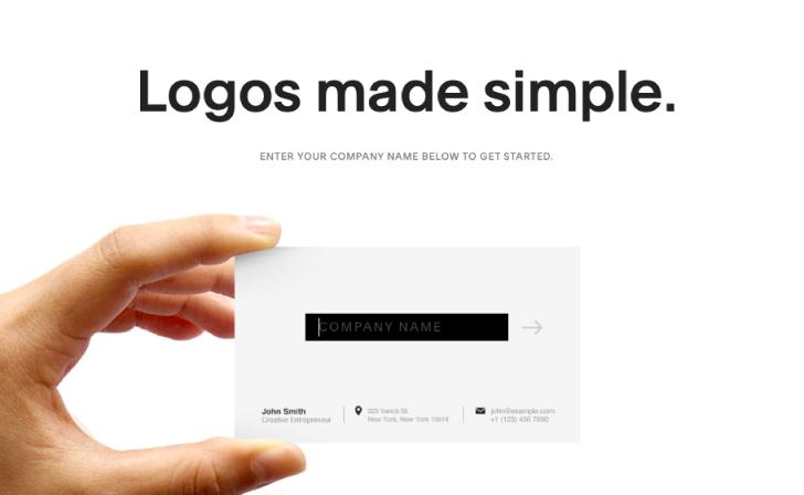Logos made simple.のトップページ